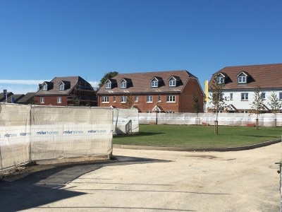 NJS Roofing work for Miller Homes, Tangmere