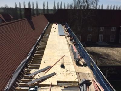 NJS Roofing work Upper Froyle for Linden Homes