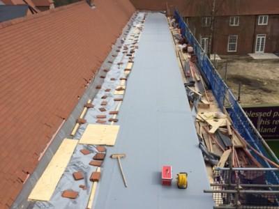 NJS Flat Roofing at Upper Froyle for Linden Homes